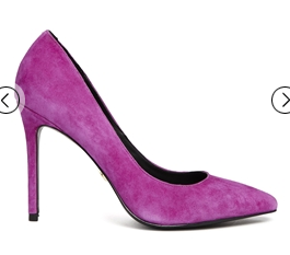 KG by Kurt Geiger Bailey Fuchsia Suede Heeled Court Shoes