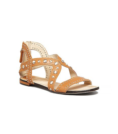 B Brian Atwood Studded Flat Sandals