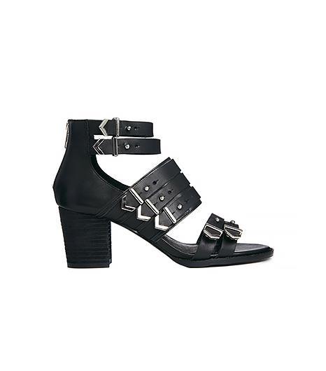 Shelly's London Block Heel Strap Buckle Sandals