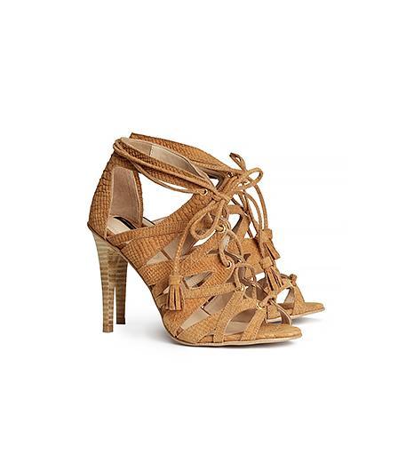 H&M Leather Sandalettes