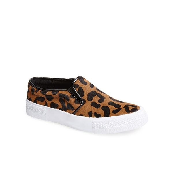 The Blonde Salad x Steve Madden NYC Leopard Print Pony Hair Sneakers