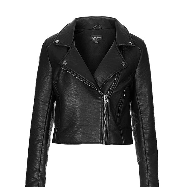 Topshop Ultimate Faux Leather Biker Jacket