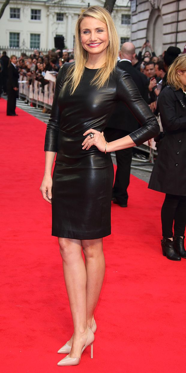 Cameron Diaz's Smokin' Hot Leather Dress
