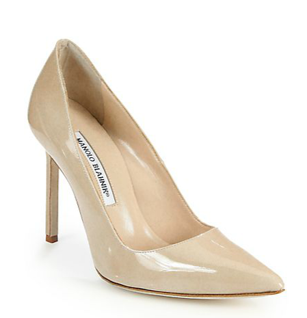 Manolo Blahnik BB Leather Pointed Pumps