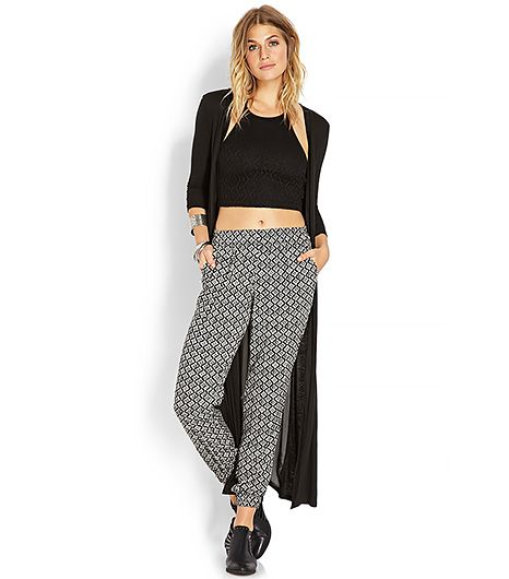 At only $16, it wouldn't be the end of the world if you got a couple grass stains on these geometric-print jogging pants.