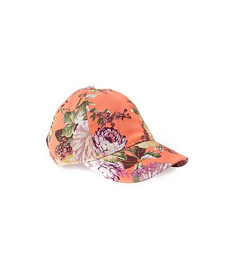 A baseball hat is a tried and true classic, and the floral pattern on this one gives it a fashion-girl twist.