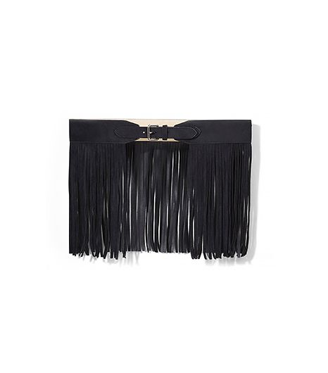 Pause for a minute on this unique belt. Sure, it's a bold move, but imagine how it will transform a simple black tank dress.