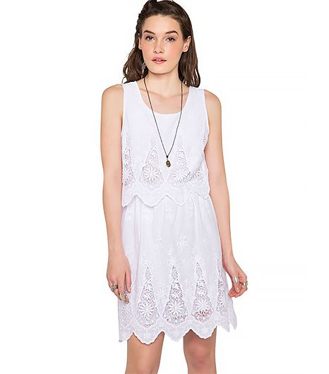 Mission accomplished: we found the perfect little white lacy dress for under $70.