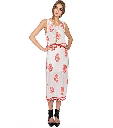 Pixie Market Damask Midi Skirt Match Set
