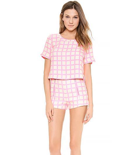 JOA Printed Top And Shorts