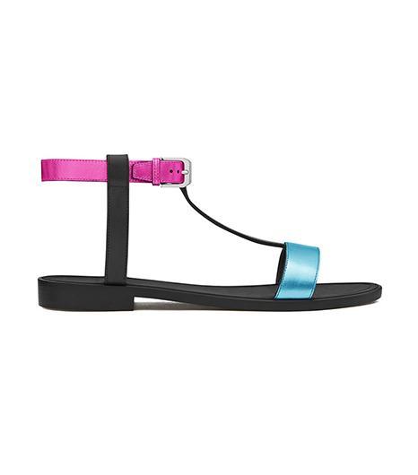 Saint Laurent Classic Nu Pieds Flat T-Strap Sandals