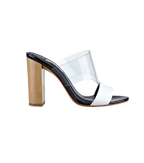 Guess Lamber Lucite Chunky Heel Slides