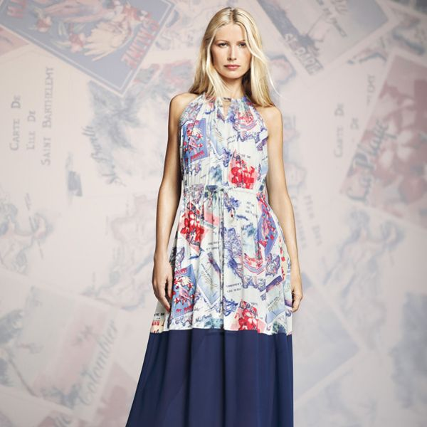 Peter Som for DesigNation Postcard Halter Maxi Dress