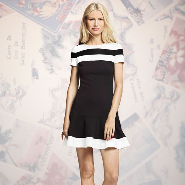 Peter Som for DesigNation Colorblock Flounce-Hem Dress