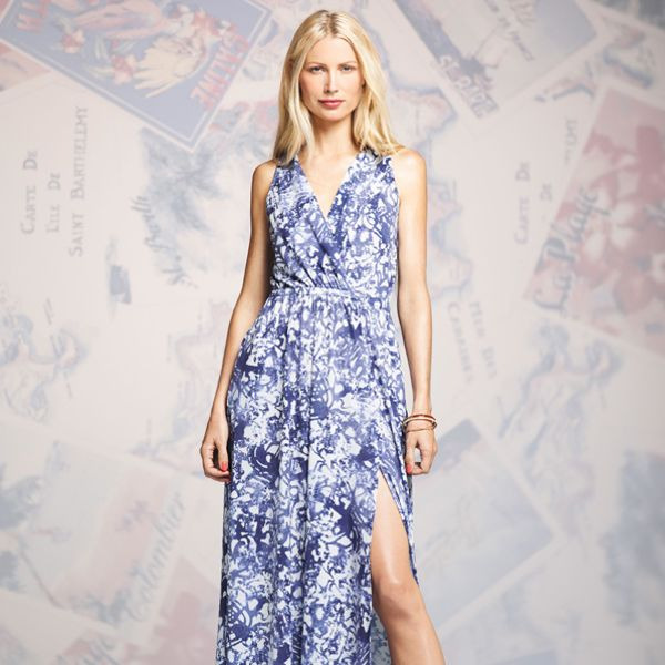 Peter Som for DesigNation Splatter Maxi Dress