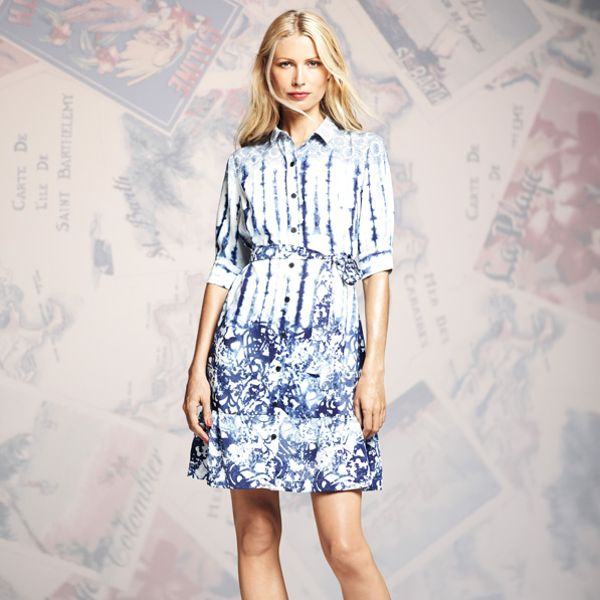 Peter Som for DesigNation Tie-Dye Shirtdress