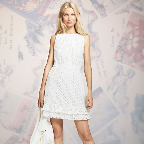 Peter Som for DesigNation Solid Eyelet Dress