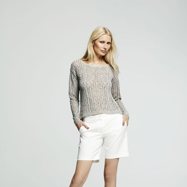 Peter Som for DesigNation Marled Tape Yarn Sweater