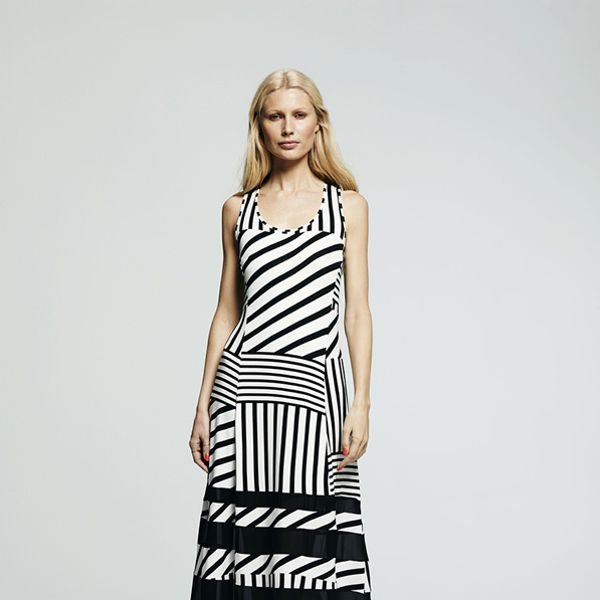 Peter Som for DesigNation Striped Maxi Dress