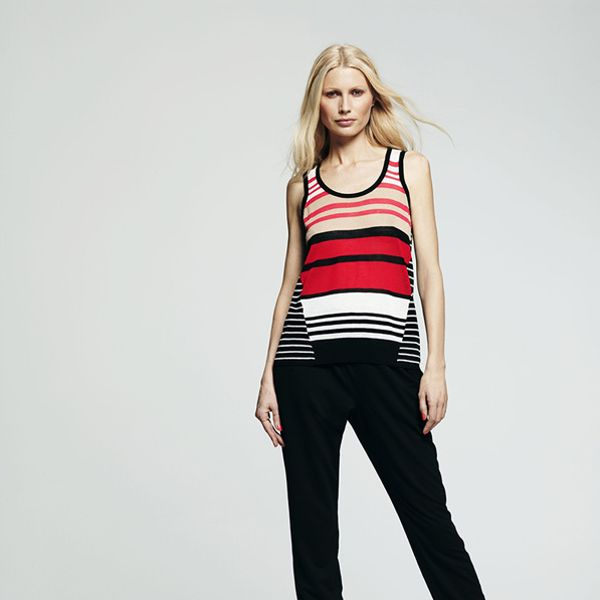 Peter Som for DesigNation Striped Sweater Tank