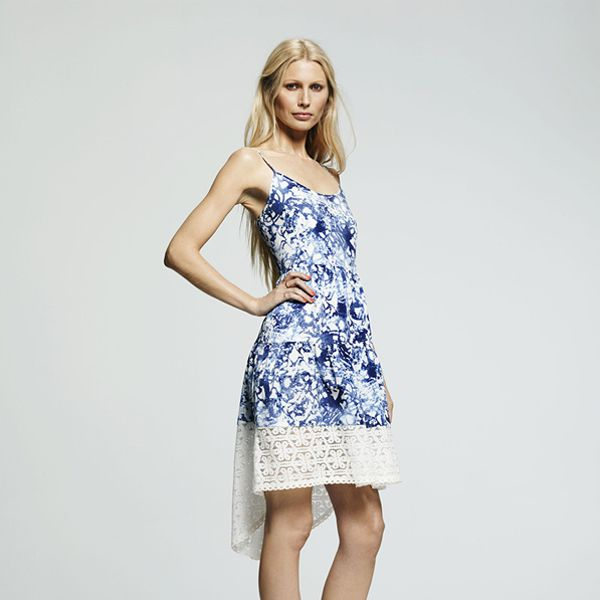 Peter Som for DesigNation Hi-Low Hem Splatter Dress
