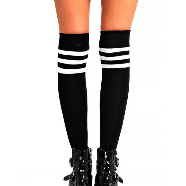 Boohoo Stripe Top Knee High Socks