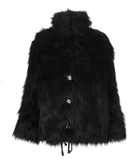 Mariella Burani Vintage Faux-Fur Jacket