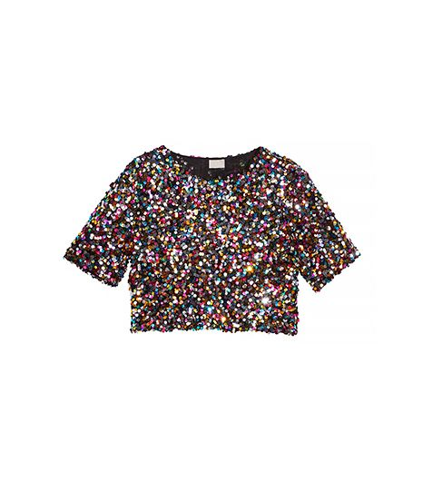 H&M Short Sequined Top