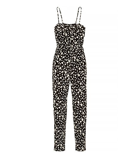 Sea Printed Silk Jumpsuit