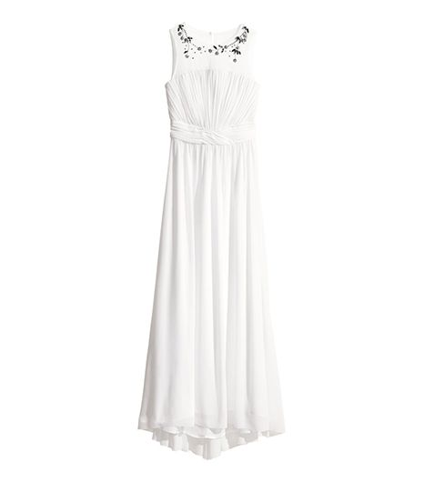 H&M Rhinestone-Trimmed Dress