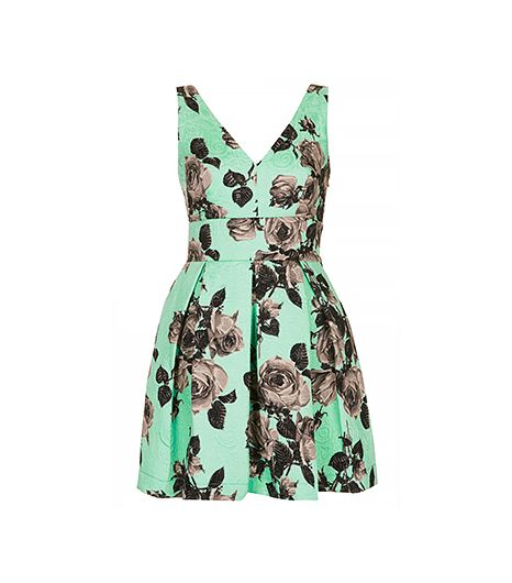 Topshop Stand Out Flower Dress