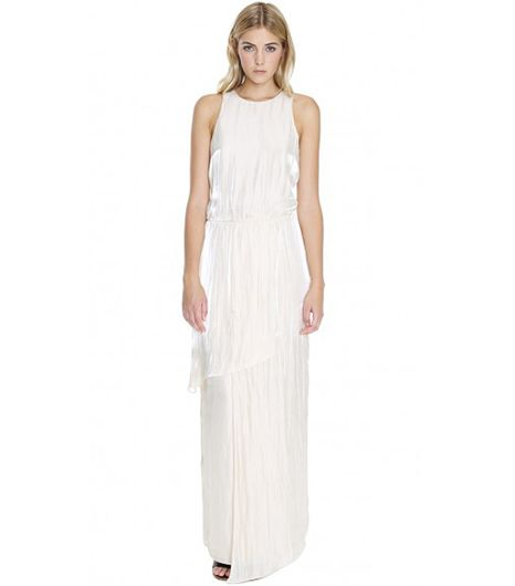Tibi Flume Asymmetrical Long Dress