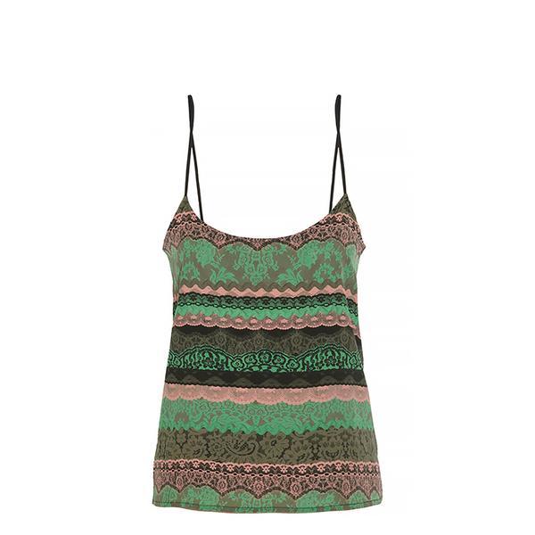Emma Cook Lace-Print Silk Camisole