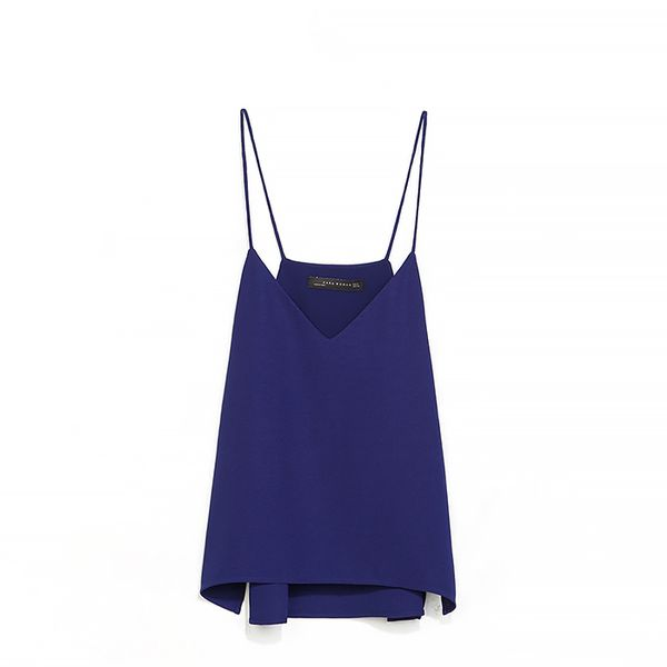 Zara Strappy V-Neck Top
