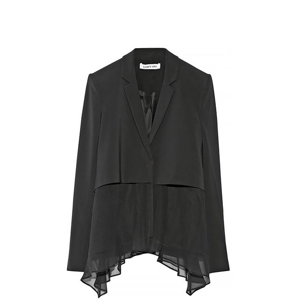 Elizabeth and James Mckayla Crepe And Silk-Chiffon Blazer