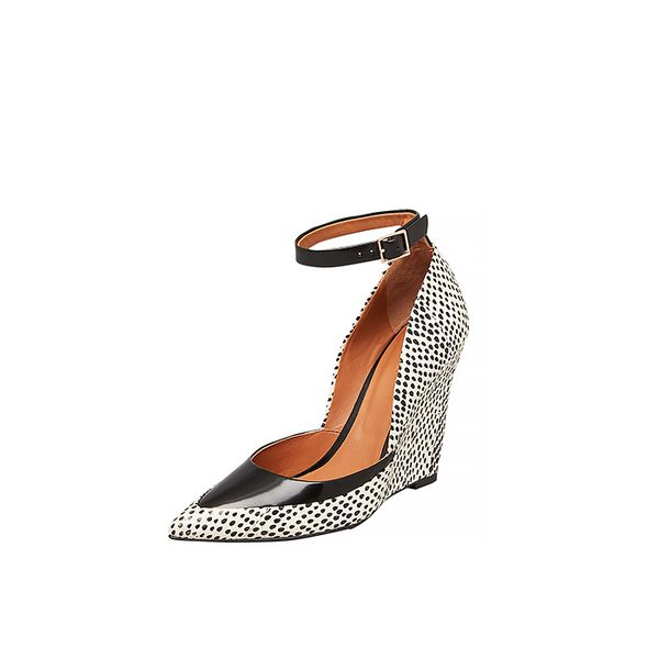 Rachel Roy Avelli Ankle Strap Pointed Toe Wedge Pumps