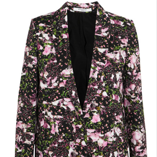 Givenchy Floral-Print Cotton-Drill Blazer