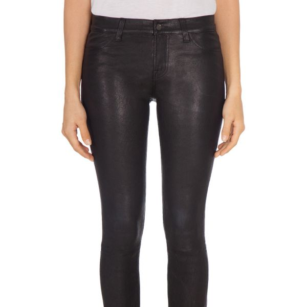 J Brand 5 Leather Crop Pants