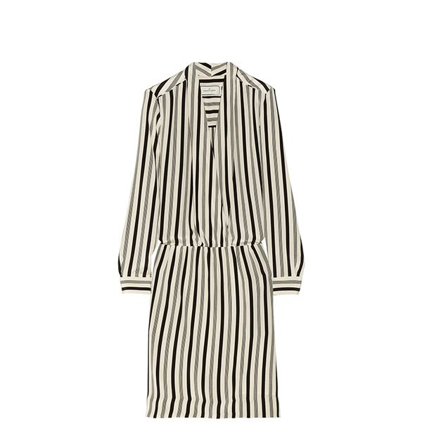 By Malene Birger Ragini Striped Silk Dress