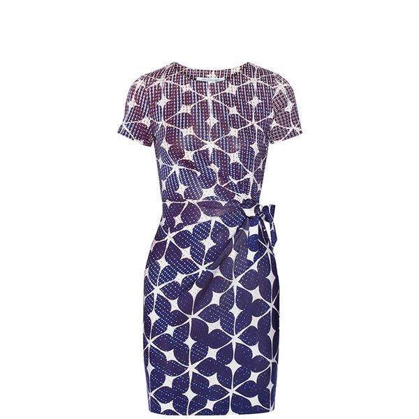 Diane Von Furstenberg Zoe Printed Silk Jersey Dress