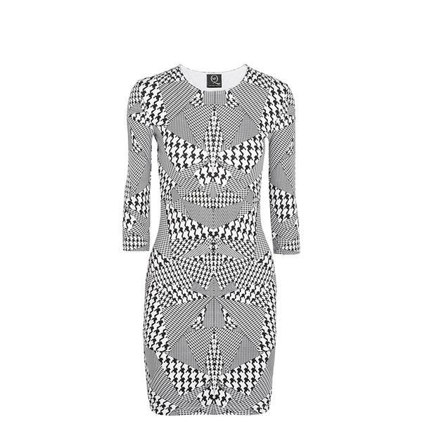 MCQ Alexander McQueen Houndstooth-Print Jersey Dress