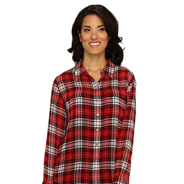 Two By Vince Camuto L/S Plaid Utility Shirt