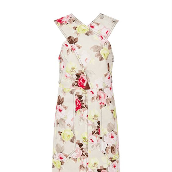 Carven Floral Denim Criss-Cross Dress