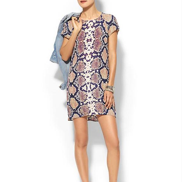 Eight Sixty Short Sleeve Snake Shift Dress