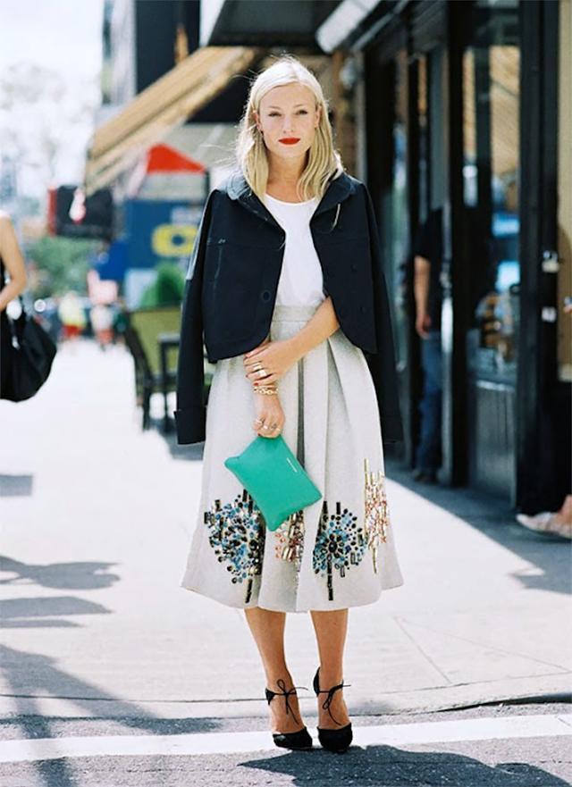 T-Shirt + Midi Skirt