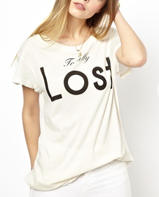 Wildfox T-Shirt With Totally Lost Print