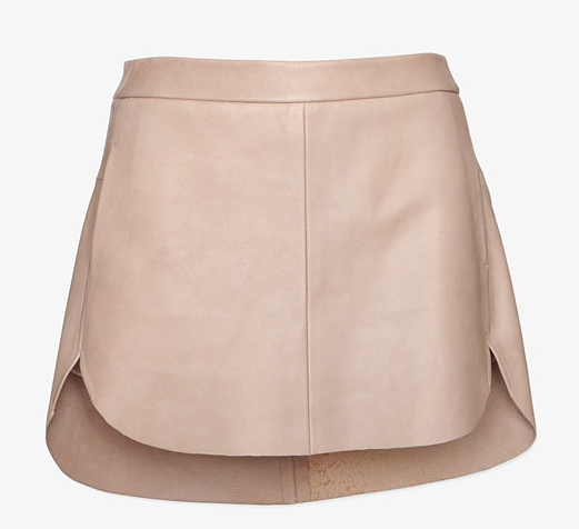 Mason by Michelle Mason Zipper Detailing Mini Leather Skirt