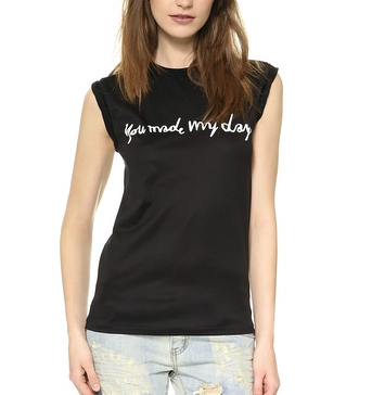 Ladison You Made My Day Roll Up Sleeve Tee