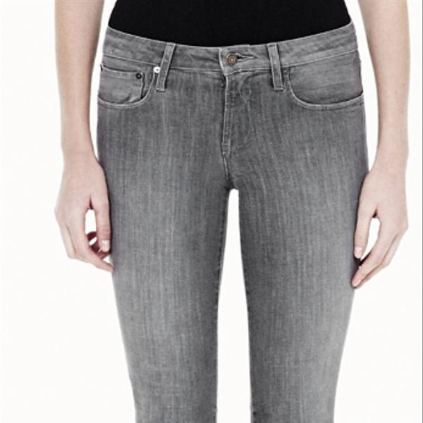 Helmut Lang Vintage Grey Wash Cropped Skinny Jeans