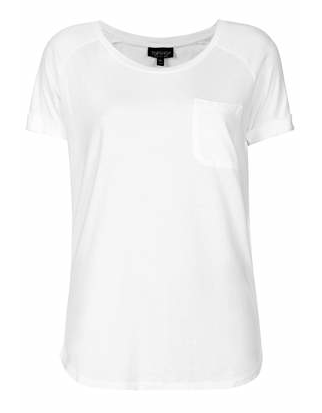 Topshop Washed Pocket Tee